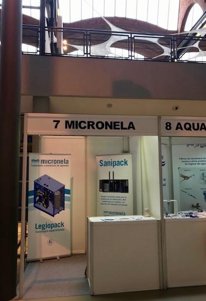 Stand Micronela al VIII Congrés Nacional de Legionel·la i Qualitat Ambiental.